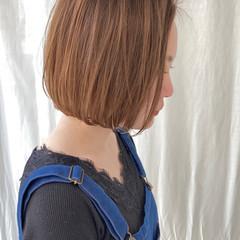 ナチュラル ボブ 切りっぱなしボブ ショートボブ ヘアスタイルや髪型の写真・画像
