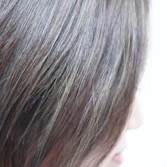 ボブ ホワイトハイライト 大人ハイライト ハイライト ヘアスタイルや髪型の写真・画像