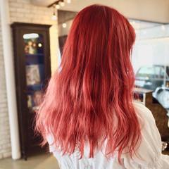 ロング ストリート インナーカラー ハイライト ヘアスタイルや髪型の写真・画像