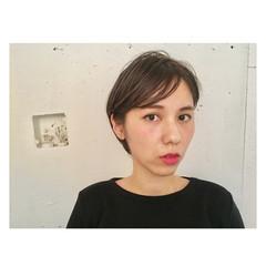 ナチュラル ショート かっこいい うざバング ヘアスタイルや髪型の写真・画像