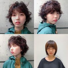 ショートヘア マッシュ ナチュラル ショートボブ ヘアスタイルや髪型の写真・画像