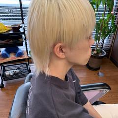メンズマッシュ セミロング マッシュウルフ メンズカジュアル ヘアスタイルや髪型の写真・画像