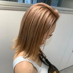 モード オレンジベージュ ショート ダブルカラー ヘアスタイルや髪型の写真・画像