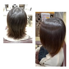 ミディアム ナチュラル 髪質改善 髪の病院 ヘアスタイルや髪型の写真・画像