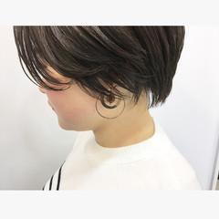 ショート ハンサムショート ショートヘア 小顔ショート ヘアスタイルや髪型の写真・画像