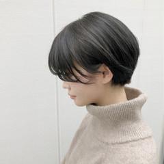 ショート 外国人風カラー ショートボブ ナチュラル ヘアスタイルや髪型の写真・画像