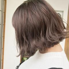簡単ヘアアレンジ ボブ 外ハネ ナチュラル ヘアスタイルや髪型の写真・画像