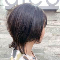 外ハネ 大人ショート ウルフ女子 ストリート ヘアスタイルや髪型の写真・画像