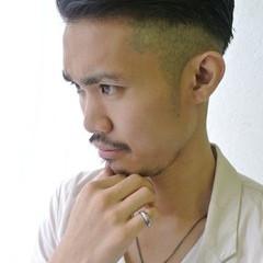 ショート 黒髪 刈り上げ ボーイッシュ ヘアスタイルや髪型の写真・画像