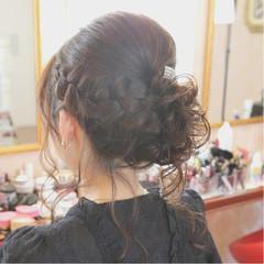 セミロング 結婚式 ナチュラル アップスタイル ヘアスタイルや髪型の写真・画像