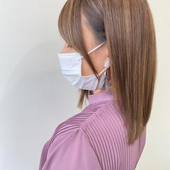 髪質改善トリートメント ナチュラル ミディアム 髪質改善カラー ヘアスタイルや髪型の写真・画像