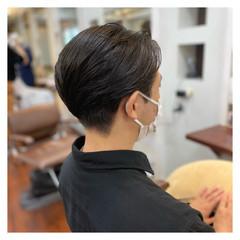 メンズカット ショート 簡単スタイリング ナチュラル ヘアスタイルや髪型の写真・画像