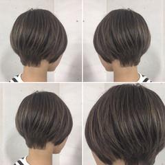 ボブ 外国人風 ハイライト ショート ヘアスタイルや髪型の写真・画像