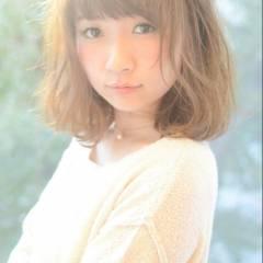 モテ髪 ミディアム コンサバ 大人かわいい ヘアスタイルや髪型の写真・画像