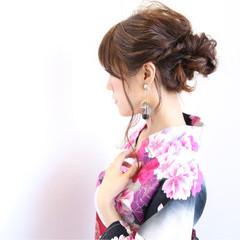 和装 フェミニン 花火大会 ヘアアレンジ ヘアスタイルや髪型の写真・画像