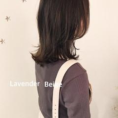 大人かわいい 大人女子 ナチュラル ミディアムレイヤー ヘアスタイルや髪型の写真・画像