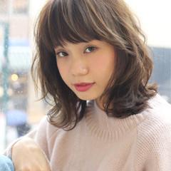シナモンベージュ ミディアム こなれ感 大人女子 ヘアスタイルや髪型の写真・画像
