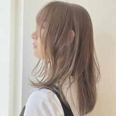 デートヘア モテ髪 ナチュラル 透明感カラー ヘアスタイルや髪型の写真・画像