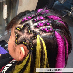 ストリート コーンロウ ミディアム ヘアアレンジ ヘアスタイルや髪型の写真・画像