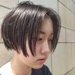 ショート ストリート 卵型 ボーイッシュ ヘアスタイルや髪型の写真・画像