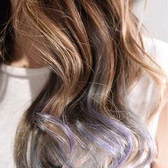 外国人風カラー バレイヤージュ グラデーションカラー ロング ヘアスタイルや髪型の写真・画像