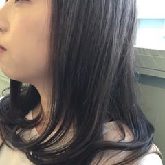 オフィス セミロング 外国人風カラー 冬 ヘアスタイルや髪型の写真・画像