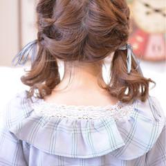 ガーリー ゆるふわ 透明感 ミディアム ヘアスタイルや髪型の写真・画像