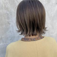 ナチュラル ハイライト ボブ 切りっぱなしボブ ヘアスタイルや髪型の写真・画像