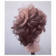 ゆるふわ パーティ フェミニン ナチュラル ヘアスタイルや髪型の写真・画像