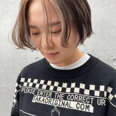 ハンサム インナーカラー アンニュイほつれヘア ナチュラル ヘアスタイルや髪型の写真・画像
