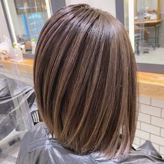 コントラストハイライト ボブ ブリーチ ブリーチカラー ヘアスタイルや髪型の写真・画像