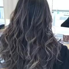 グラデーションカラー ハイライト エレガント ロング ヘアスタイルや髪型の写真・画像