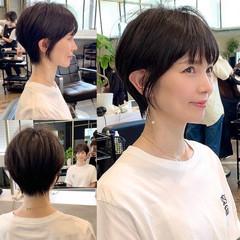 前髪 ショート ショートボブ ショートヘア ヘアスタイルや髪型の写真・画像