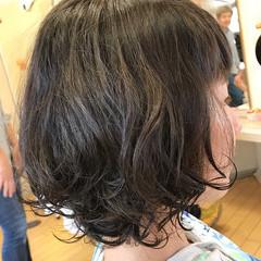 パーマ ボブ ナチュラル 簡単 ヘアスタイルや髪型の写真・画像