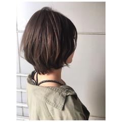 グレージュ ナチュラル ショート ショートボブ ヘアスタイルや髪型の写真・画像