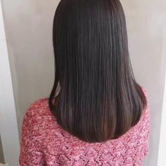 ストレート 大人かわいい 大人女子 縮毛矯正 ヘアスタイルや髪型の写真・画像