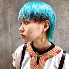 ストリート ブリーチ ショートヘア ショート ヘアスタイルや髪型の写真・画像