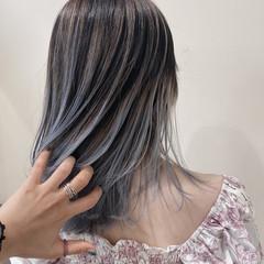 ダブルカラー モード レイヤーカット ハイトーン ヘアスタイルや髪型の写真・画像