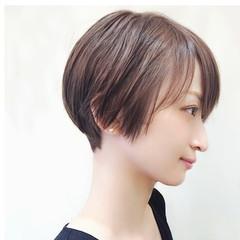 ナチュラル コントラストハイライト 3Dハイライト ショート ヘアスタイルや髪型の写真・画像