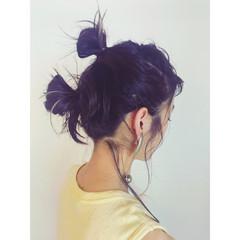 簡単ヘアアレンジ 夏 アウトドア モード ヘアスタイルや髪型の写真・画像