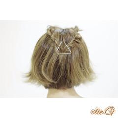 ヘアアレンジ 二次会 簡単ヘアアレンジ ショート ヘアスタイルや髪型の写真・画像