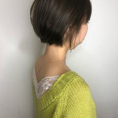 ハイライト 大人可愛い ショートヘア ナチュラル ヘアスタイルや髪型の写真・画像