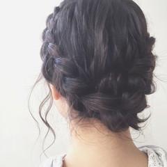 ヘアアレンジ ショート ミディアム 結婚式 ヘアスタイルや髪型の写真・画像