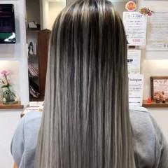 デート ロング ヘアアレンジ バレイヤージュ ヘアスタイルや髪型の写真・画像