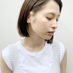白髪染め インナーカラー ヘアカラー ナチュラル ヘアスタイルや髪型の写真・画像