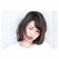 ブリーチ モード 外国人風 ミディアム ヘアスタイルや髪型の写真・画像