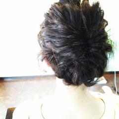ゆるふわ ヘアアレンジ アップスタイル 波ウェーブ ヘアスタイルや髪型の写真・画像