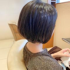 ショートボブ 小顔ヘア ミニボブ 丸みショート ヘアスタイルや髪型の写真・画像