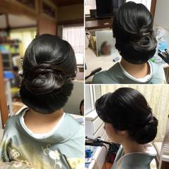 着物 アップスタイル エレガント 結婚式 ヘアスタイルや髪型の写真・画像