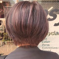 ラベンダーアッシュ ナチュラル 透明感 ショートヘア ヘアスタイルや髪型の写真・画像